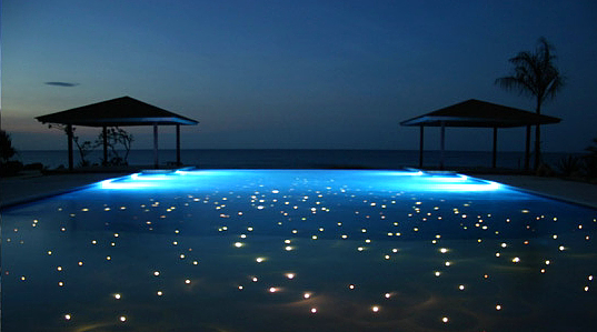 fiber optic starfield like design incorporatated into pool bottom. Black Bedroom Furniture Sets. Home Design Ideas